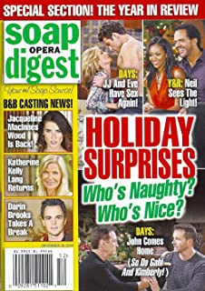 * THE YEAR IN REVIEW ISSUE * Days of Our Lives, Young and the Restless & Bold and the Beautiful HOLIDAY SURPRISES: Who's Naughty? Who's Nice? - December 29, 2014 Soap Opera Digest Magazine