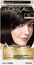 L'Oréal Paris Superior Preference Fade-Defying + Shine Permanent Hair Color, 3 Soft Black, 1 kit Hair Dye