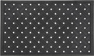 Matrix-Crossweave Black 18-Inch by 30-Inch Doormat