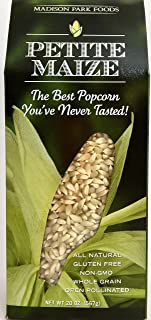 Petite Maize Single Lot Gourmet Popcorn 2 Pop - Gluten-free, Open Pollinated, All Natural, Non-GMO, High Fiber & Low Fat, 20oz