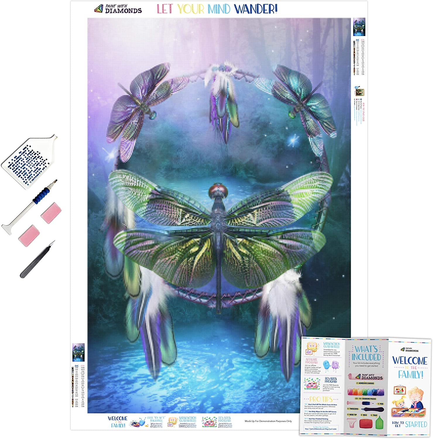 Spirit of The Dragonfly XL 5D Washington Mall Diamonds Paint With Full Kit Ranking TOP14 with