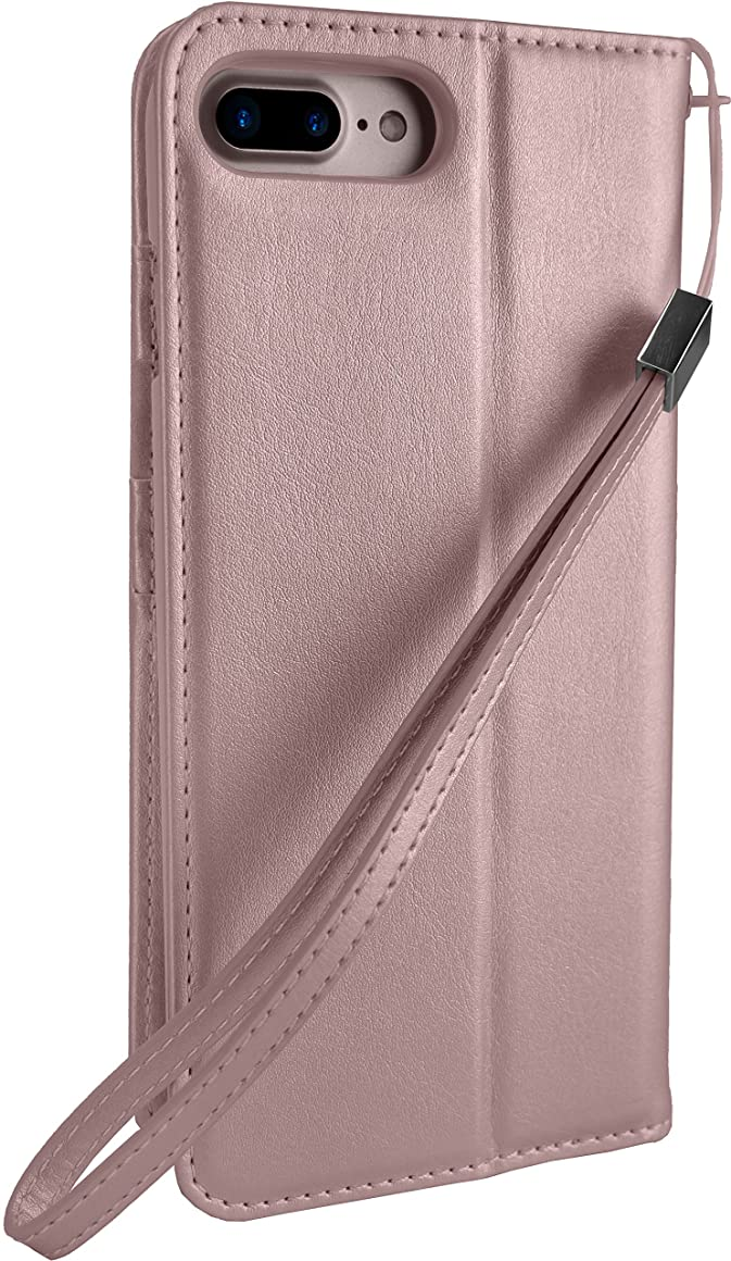 Silk iPhone 8/7 Wallet Case - Keeper of The Things - Folio Wallet Synthetic Leather Portfolio Flip Credit Card Cover with Kickstand - Rosé All Day