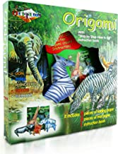 Origami Kit for Kids Jungle Edition– 16 Pieces of Origami Paper – 5 Origami Animals to Create – Origami Instruction Book for Children and Beginners - Starter Kit