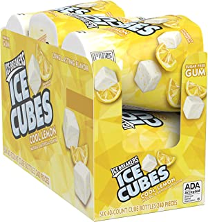 Ice Breakers Ice Cubes Sugar Free Gum with Xylitol, Cool Lemon, 40Piece (Pack of 6)
