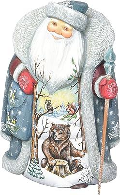 G. Debrekht Wilderness Bears Hand-Painted Wood Carving