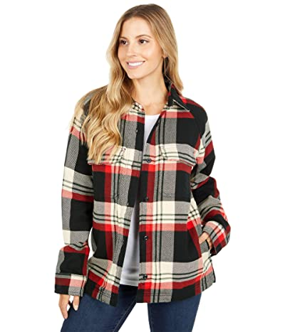 Filson Vintage Flannel Jac-Shirt (Black/Red/Cream Plaid) Women