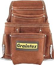 Graintex SS2970 - Bolsa de 10 bolsillos para clavos y herramientas, color café para manitas, contratistas, constructores, ...