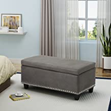 Christopher Knight Home Carl Traditional Microfiber Storage Ottoman, Slate,