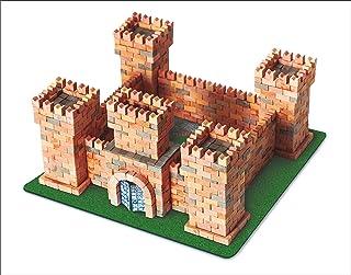 Wise Elk Toy Dragon's Castle Construction Set, Real Plaster Bricks, Gypsum Reusable Building Kit, 1080 Piece