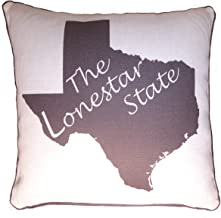 Throw Pillow Decorative Burlap Gift Cushion State Silhoutte Texas