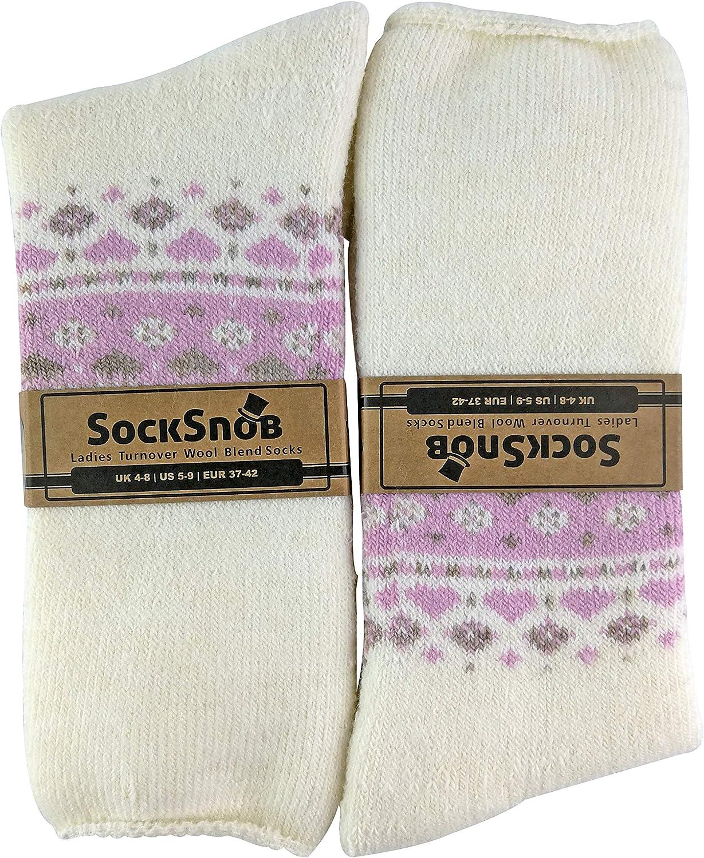 Sock Snob Calcetines de cama de mezcla de lana lindos para mujer