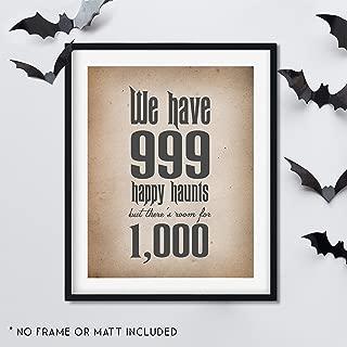 999 Happy Haunts - Disney's Haunted Mansion - Unframed 11x14 Print - Perfect Halloween Decorations