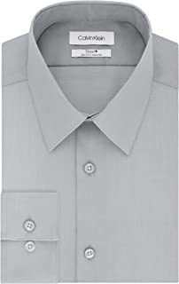 Calvin Klein Men's Dress Shirts Non Iron Slim Fit Solid