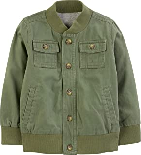 Simple Joys by Carter's Boys' Toddler Twill Button up Jacket