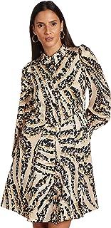 فستان جاجا طويل الأكمام للنساء بنمط قميص من فيرو مودا