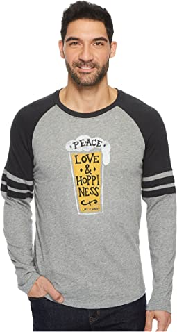 Peace Love Hoppy Vintage Sport Long Sleeve