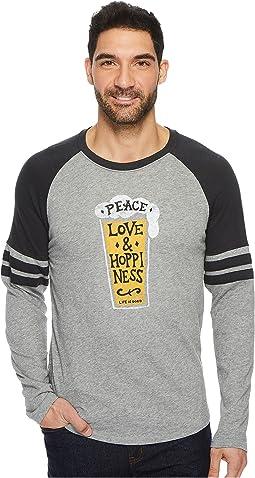 Life is Good - Peace Love Hoppy Vintage Sport Long Sleeve