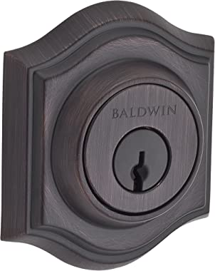 Baldwin SC.TAD.112.6L.DS.CKY.KD Traditional Arch Single Cylinder Deadbolt, Venetian Bronze