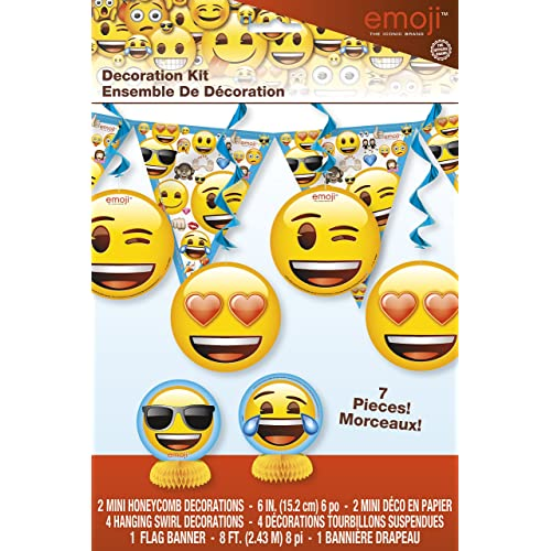 Emoji Party Decoration Kit 7pc