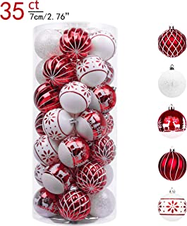 Best red and white christmas ornaments Reviews