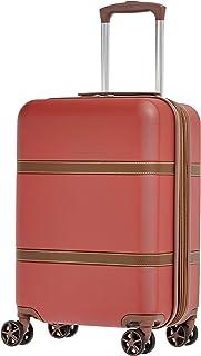 امازون بيسكس حقيبة سفر بعجلات , بني و زهري - B07FNJXDHG