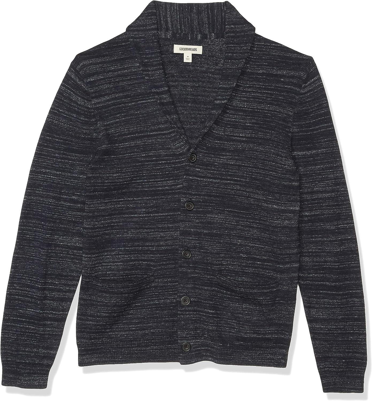 Cardigan-Sweaters Hombre Goodthreads Soft Cotton Cardigan Summer Sweater
