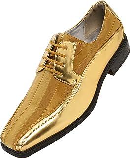8c580339fb1e6 Amali Men s Lace Up Tuxedo Oxford with Statin Striped Design Oxford Dress  Shoe