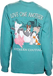 Comfort Long Sleeve Fit Love One Another Adult T-Shirt Seafoam