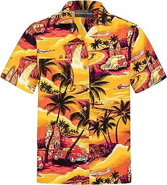 Camisa Hawaiana | Hombre | Señores | 100% Algodón | Talla S - 8XL | Manga Corta | Puesta de Sol | Muchos Colores | Tropical | Aloha | Playa | Palmas | ...