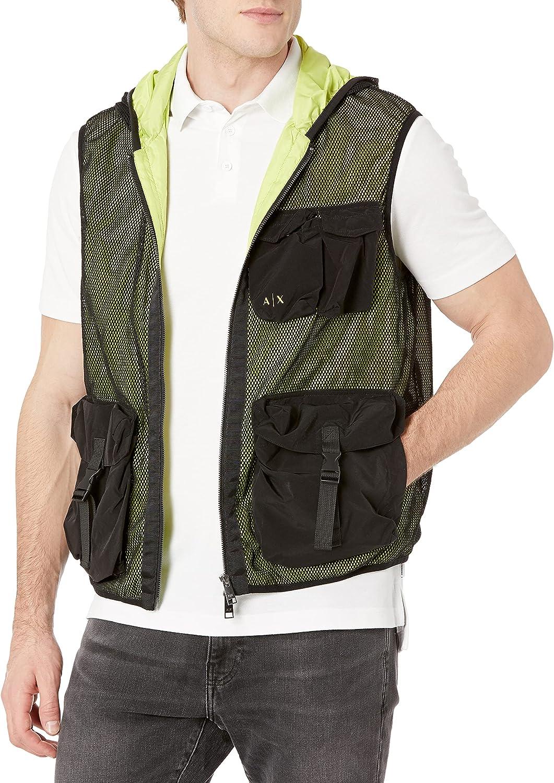 Armani Exchange Black/Acid Lime Allover Jacket Chaqueta para Hombre