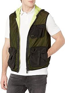 Armani Exchange Men's Black/Acid Lime Allover Jacket
