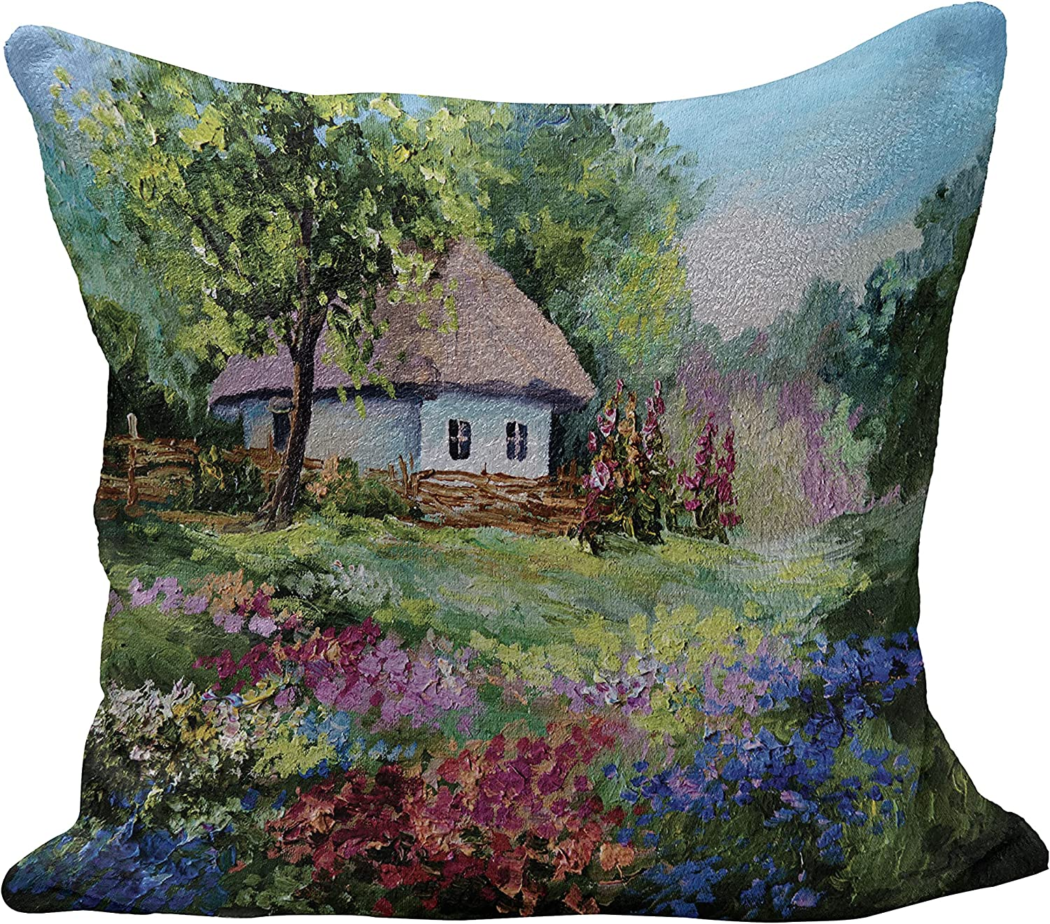 Ranking TOP15 Lunarable Rustic Flannel Fleece Pillow Hous Cover Cushion Stone Fresno Mall