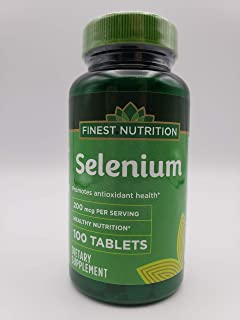 Finest Nutrition Selenium 200 MCG Tablets, 100 ea