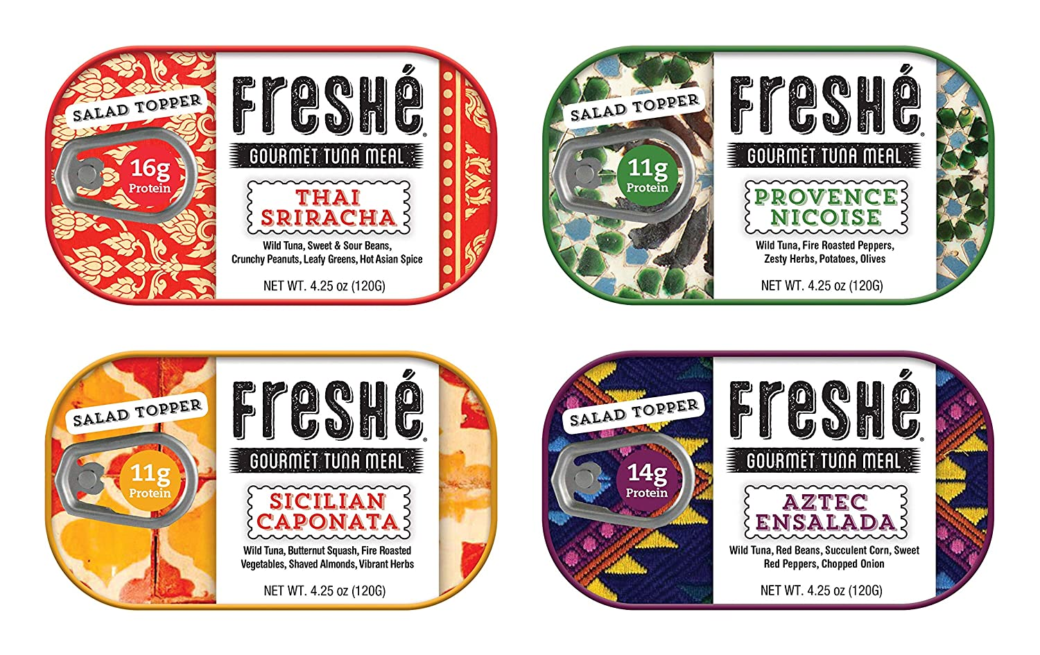 Freshé Gourmet Canned Tuna Variety 4 Over item handling Healthy Pack Max 48% OFF High