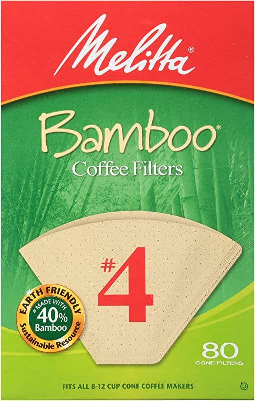 Melitta Bamboo Filters 4 Pack Of 6