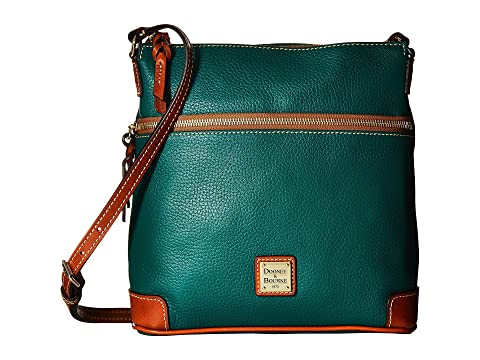 Crossbody cuero hoja amp; amp; Dooney Pebble Tan ajuste Bourke XaASq