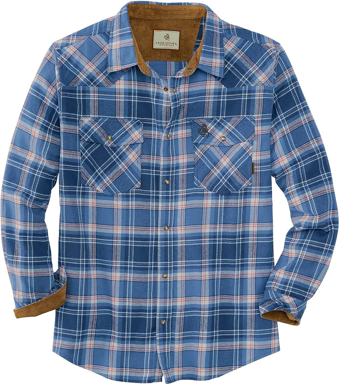 Legendary Whitetails mens Shotgun Western Flannel Shirt