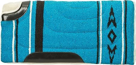 """Weaver المصنوعة من الجلد 35–1669-p1أكريليك مقطوعة الجزء الخلفي وسادة سرج حصان ، باللون الأزرق ، 25"""" x 26بوصة """""""