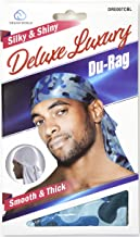 Dream Deluxe Du-Rag Camo Blue Smooth & Thick, Superior Quality, Stretchable, Wrinkle..