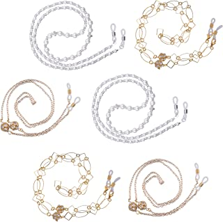 Elegant Fashion Eyeglasses Sunglasses Holder Eyewear Retainer, Chain - Set of 6