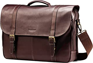 Samsonite Columbian Leather Flapover Case, Brown (Brown) - 45798-1139