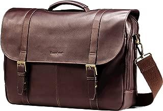 Samsonite Columbian Leather Flapover Case, Brown (Brown) - 45798-1139