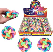Liberty Imports Set of 12 Bouncy Fidget Balls - Stress Relief Rainbow Rubber Balls Squeeze Toys - Ideal for Kids and Adults Party Favors (6 Colors)