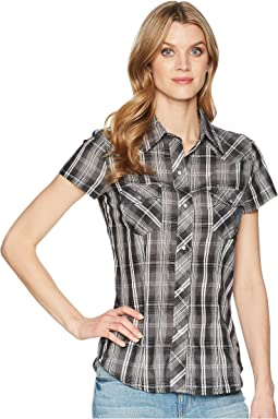 Roper 1632 Black, Grey and White Plaid