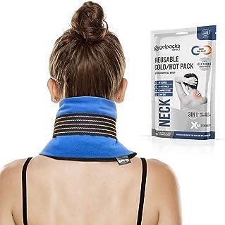 comprar comparacion GelpacksDirect Bolsa de gel para aplicar frío y calor - Con banda de compresión y elástico para el cuello