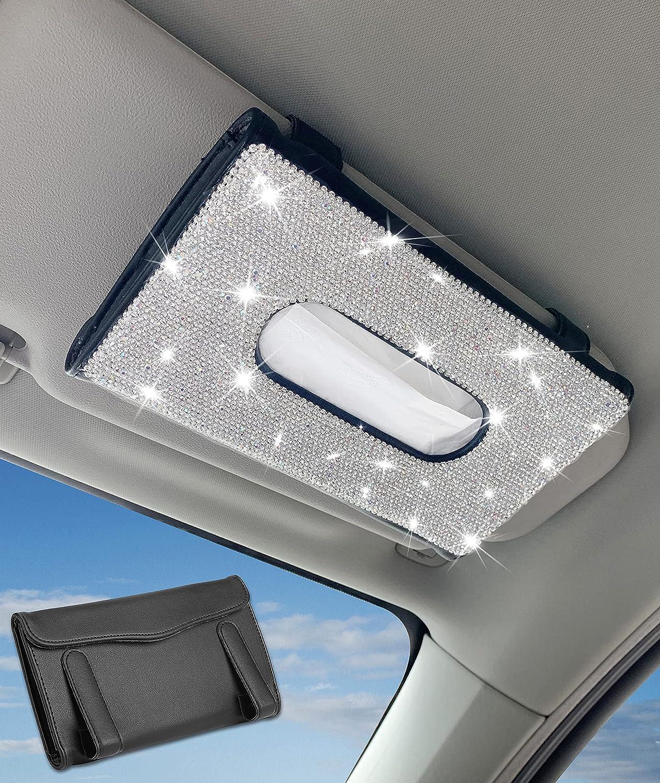 TZnyly Bling Car Sun Visor Large-scale sale Holder Soldering Cute Accessor Tissue