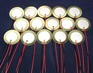 15 Pieces - 27mm Piezo Disc Elements with 4