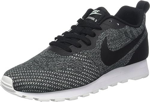 Nike Wmns Md Runner 2 Eng Mesh, Hausschuhe de Running para damen, schwarz (schwarz schwarz Igloo Weiß 003), 38.5 EU