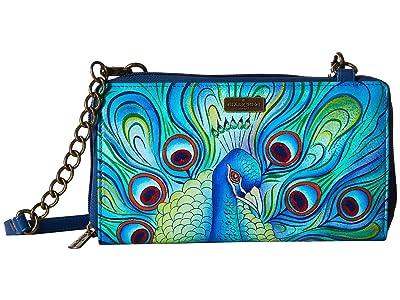 Anuschka Handbags 1144 ZIP AROUND RFID CROSSBODY CLUTCH (Jewelled Plume) Handbags