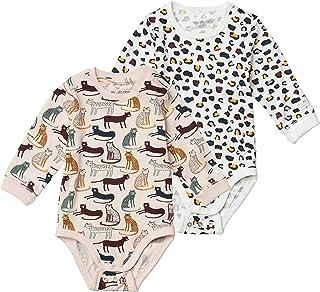 Tiny One Lot de 2 bodys à manches longues pour bébé - En coton biologique certifié GOTS - Durée de vie prolongée grâce à l...